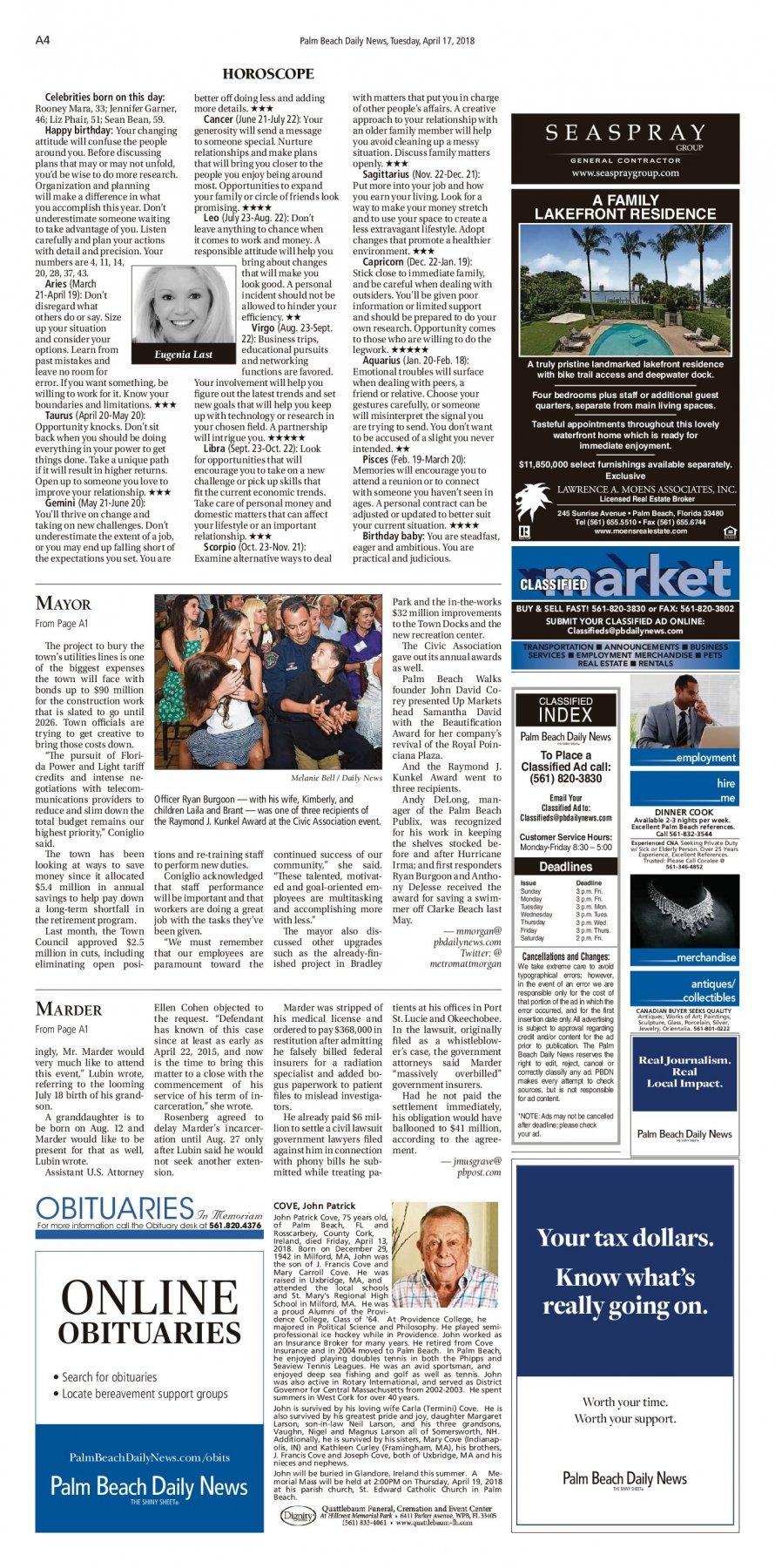 Palm Beach Daily News/The Shiny Sheet: